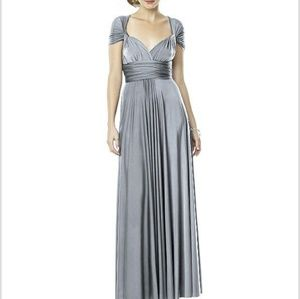 Dessy Platinum Convertible Dress